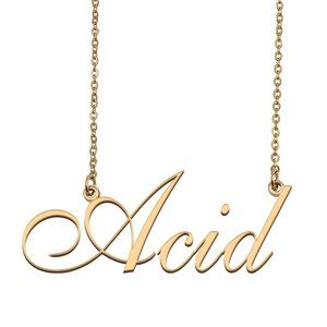 Custom Personalized Acid Name Necklace